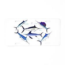 6 Billfish Aluminum License Plate