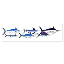 6 Billfish Bumper Bumper Sticker