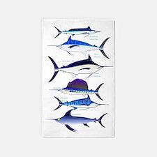 6 Billfish 3'x5' Area Rug