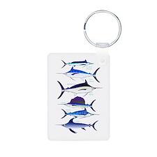 6 Billfish Keychains