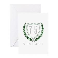 75th Birthday Laurels Greeting Card