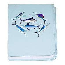 6 Billfish C baby blanket