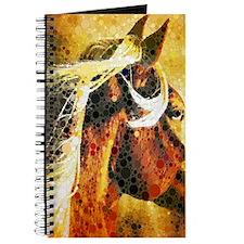 vintage horse abstract farm art Journal