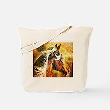 vintage horse abstract farm art Tote Bag