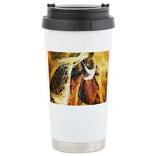 vintage horse abstract farm art Travel Mug
