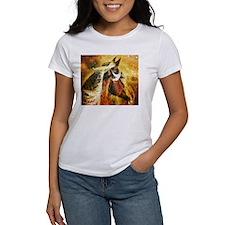 vintage horse abstract farm art T-Shirt