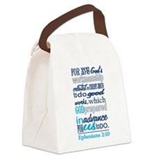 Created in Gods Image Canvas Lunch Bag