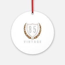85th Birthday Laurels Ornament (Round)