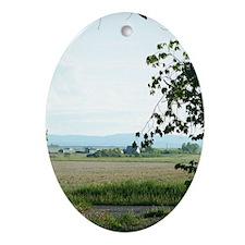 Prairie Scene Ornament (Oval)