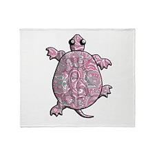 Pink Paisley Throw Blanket