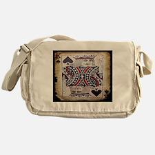 distressed poker king card Messenger Bag