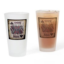 distressed poker king card Drinking Glass