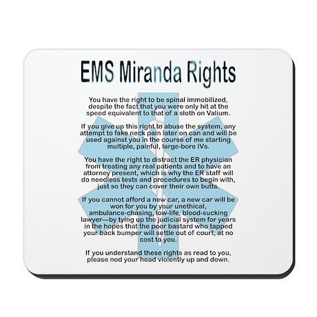 EMS Miranda Rights Mousepad