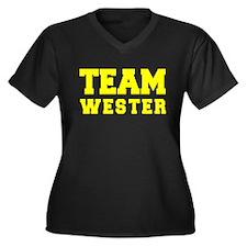 TEAM WESTER Plus Size T-Shirt