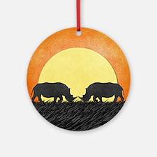 African Rhinos Ornament (Round)