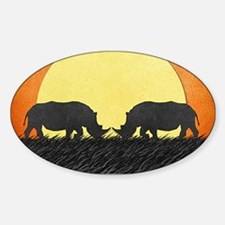 African Rhinos Decal