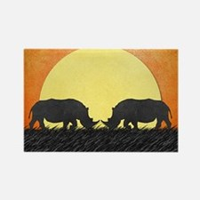 African Rhinos Magnets