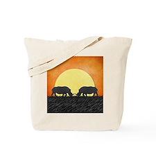 African Rhinos Tote Bag