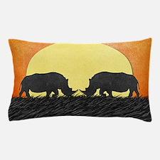 African Rhinos Pillow Case