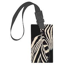 Creamy Beige Zebra Luggage Tag