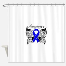 Colon Cancer Butterfly Shower Curtain