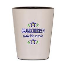 Grandchildren Sparkle Shot Glass