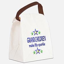 Grandchildren Sparkle Canvas Lunch Bag