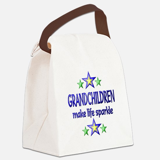Grandchildren Sparkle Canvas Lunch Bag
