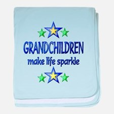 Grandchildren Sparkle baby blanket