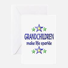 Grandchildren Sparkle Greeting Card