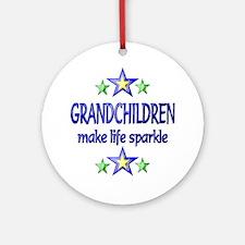 Grandchildren Sparkle Ornament (Round)