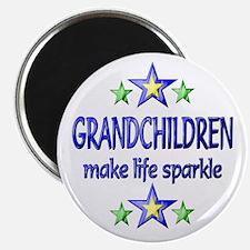 "Grandchildren Sparkle 2.25"" Magnet (10 pack)"