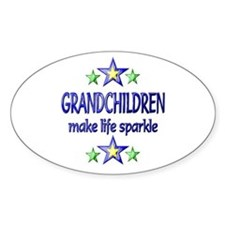 Grandchildren Sparkle Bumper Stickers