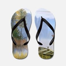 Lake Painting Flip Flops
