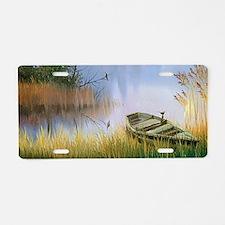Lake Painting Aluminum License Plate