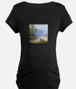 Lake Painting Maternity T-Shirt