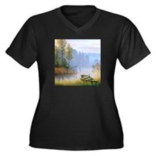 Lake Painting Plus Size T-Shirt
