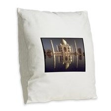 taj mahal gifts Burlap Throw Pillow