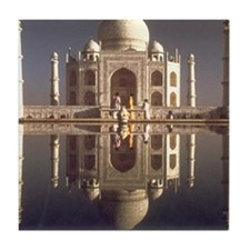 taj mahal gifts Tile Coaster
