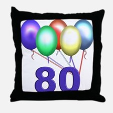 80 Gifts Throw Pillow