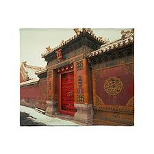 Beijing,forbidden city china Throw Blanket