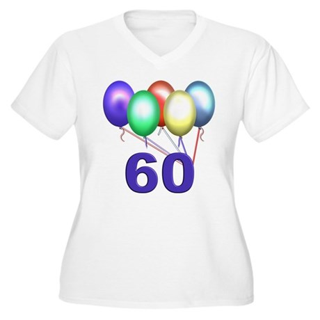 60 Gifts Women's Plus Size V-Neck T-Shirt