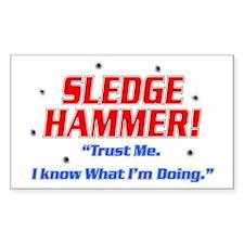 Sledge Hammer! Rectangle Decal