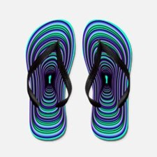 Mardi Gras Beads Flip Flops
