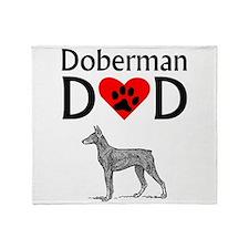Doberman Dad Throw Blanket