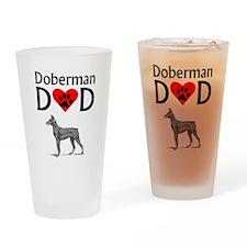 Doberman Dad Drinking Glass