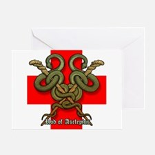 Rod of Asclepius4 Greeting Card
