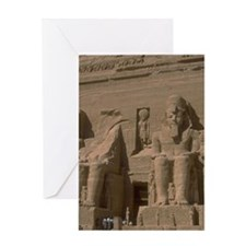 rock temple ramses gifts Greeting Cards