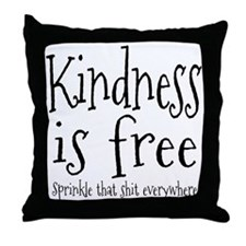 Sprinkle Kindness Throw Pillow