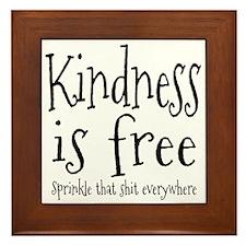 Sprinkle Kindness Framed Tile